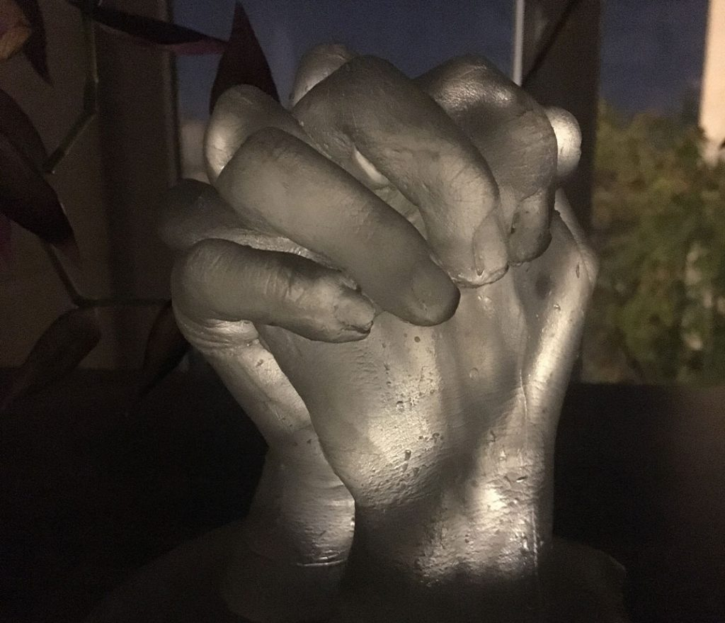 Hands Casting with Glass